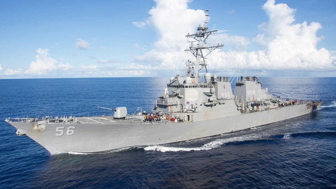 separation shoes 76ed4 0c698 usatoday.com U.S. warship collides with tanker near Singapore, 10 sailors  missing