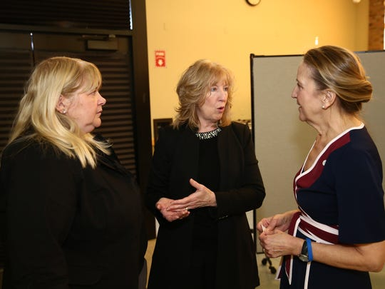 From left, Louise McLoughlin Dutchess County Workforce
