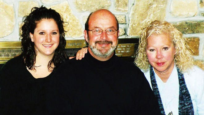 Megan Day (left), with her dad Paul, who helps out at her Waukesha restaurant, and late mother Ann, who inspired her freezer meal business.