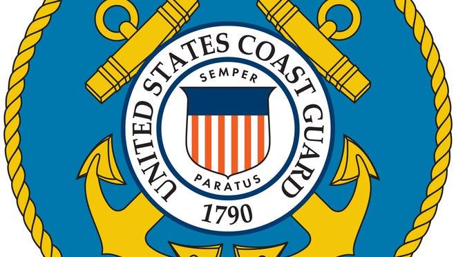The Coast Guard seal.