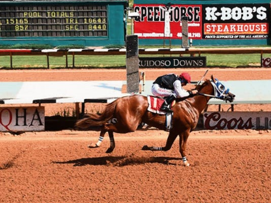 Bodacious Eagle winning his trial.