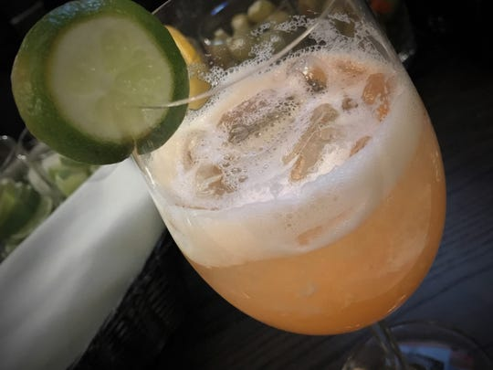 The Amalfi Spritz is a fizzy prosecco and pineapple