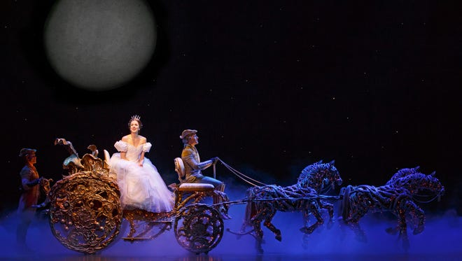 """Adrian Arrieta, Paige Faure and Blakely Slaybaugh star in the national tour of Rodgers and Hammerstein's """"Cinderella."""""""