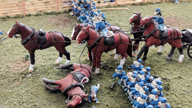A detail at the Civil War Tails at the Homestead Diorama Museum in Gettysburg.