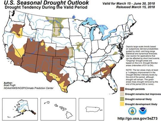 The Climate Prediction Center's seasonal drought outlook