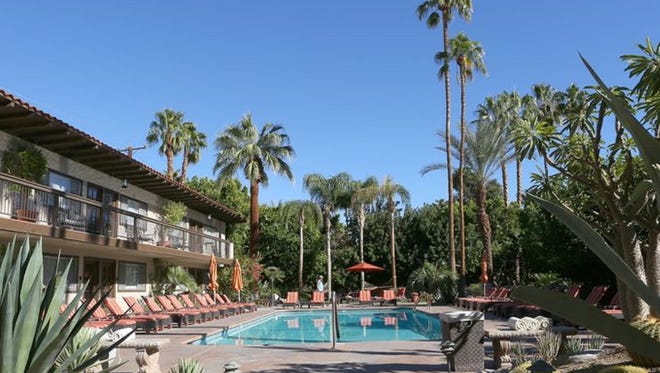 The two-story Santiago Resort in Palm Springs offers great views of the surrounding mountains.