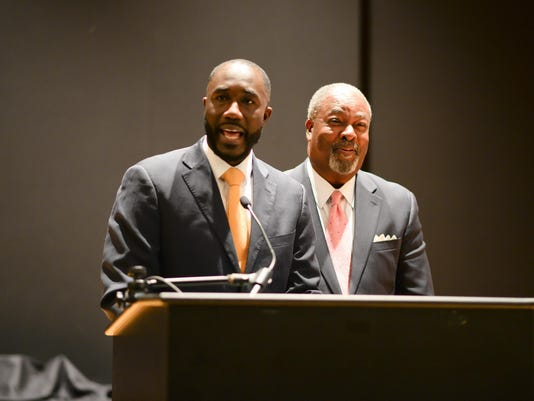 Mayors Tony Yarber, Harvey Johnson Jr.
