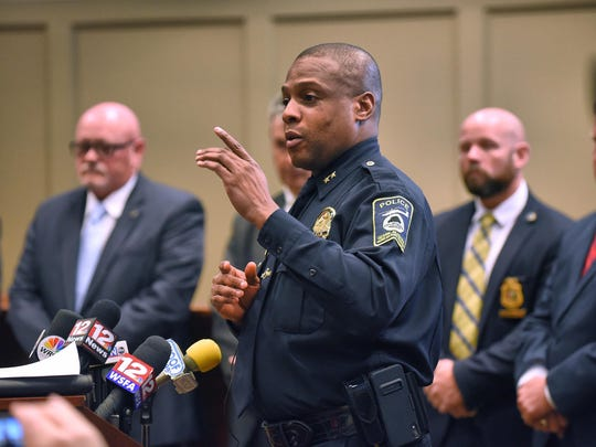 Ozark (Ala.) Police Chief Marlos Walker discusses the arrest of Coley McCraney for the 1999 slayings of Dothan teens J.B. Beasley and Tracie Hawlett. McCraney was arrested Friday and is held with no bond.