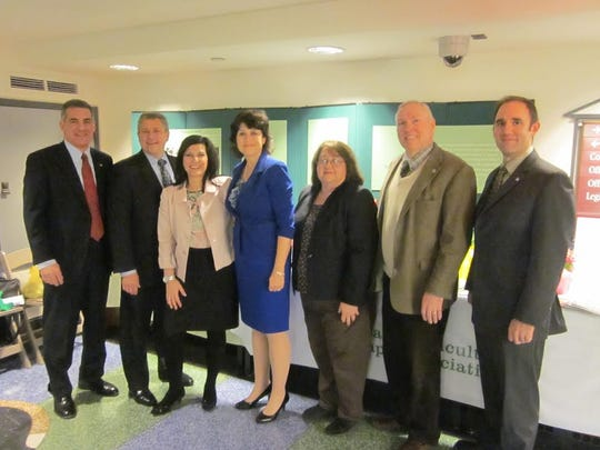 Horticultural Therapy Week at the Statehouse with dignitaries and New Jersey Department of Agriculture.