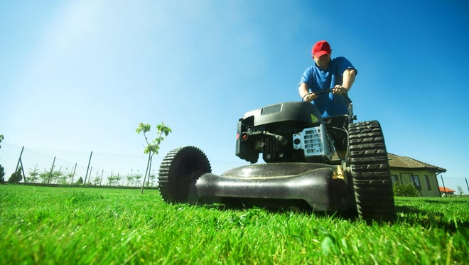 The recommended height to mow St. Augustine grass is 3 to 4 inches tall.