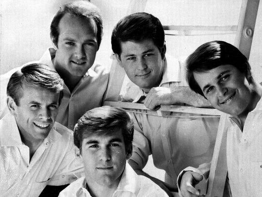 Al Jardine, from left, Mike Love, Dennis Wilson, Brian