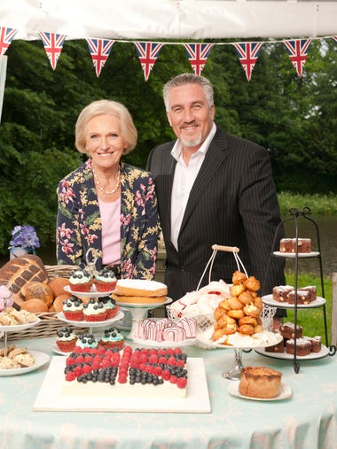 Cookbook author Mary Berry and baker Paul Hollywood
