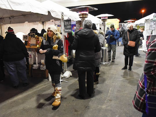 Vendors offered food, warm drinks and craft items to