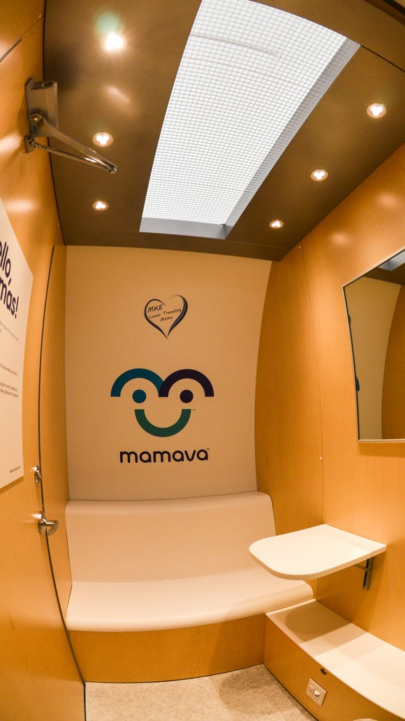 The inside of a Mamava pod.