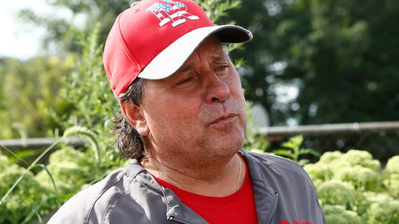 North Rockland head coach Tom Lynch interview prior to their first practice at North Rockland High School in Thiells in  on Monday, August 14, 2017.