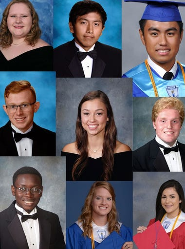 A selection of Class of 2018 valedictorians and salutatorians from Abilene high schools.