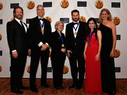 Jefferson Awards Foundation National honorees (middle