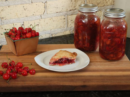 Cherry season is so fleeting, so having jars of cherry