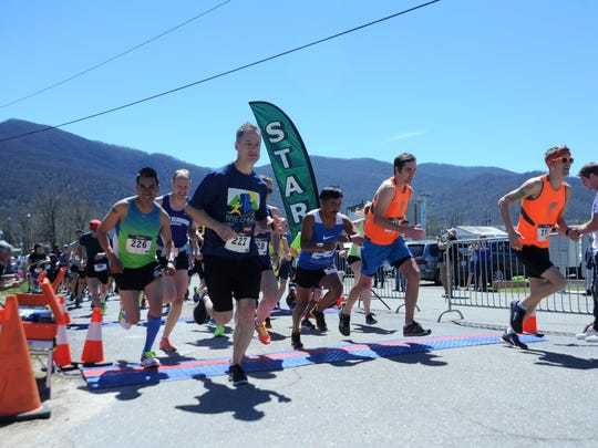 Around 200 runners participated in the 10th running of the Black Mountain Greenway Challenge 5K/10K on April 8. Both races began and ended at Pisgah Brewing Co. Money raised by the race goes to Black Mountain's greenway system.