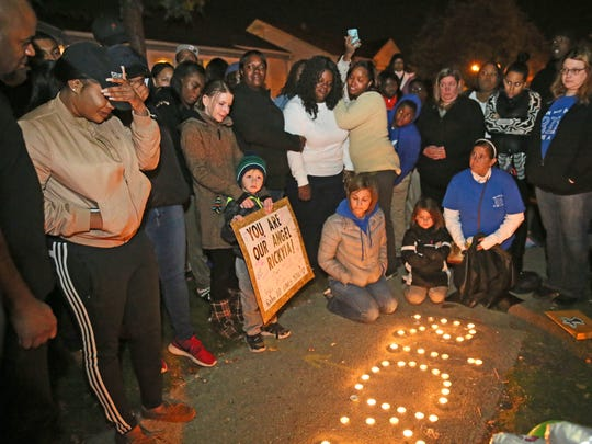 Family, friends and school classmates attended a prayer vigil for 5-year-old Rickyia Langham that was held near the location where she was killed by a hit-and-run driver in the 6400 block of  W. Leon Terrace in Milwaukee.