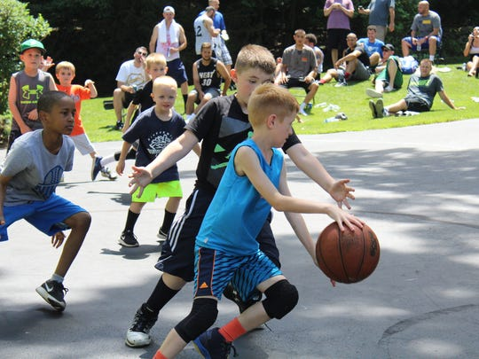 The children of the players in the 17th Buckshot Invitational Tournament took to the court Saturday in Binghamton.