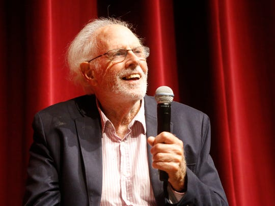 "Two time Oscar nominated actor bruce Dern addresses the movie fans that came out Friday night to the Plaza Classic Film Festival to watch the screening of ""Nebraska,"" which was released in 2013."