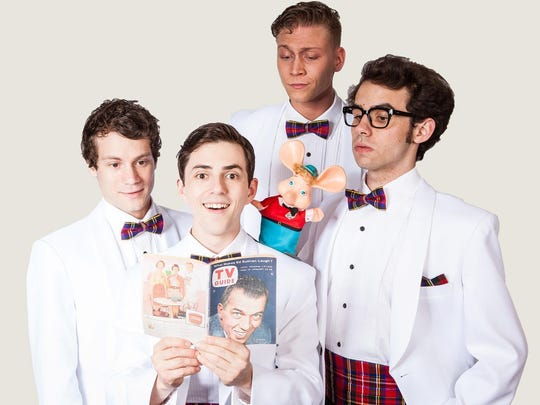 """""""Forever Plaid"""" performs through Wednesday at the Meadow Brook Theatre in Rochester."""