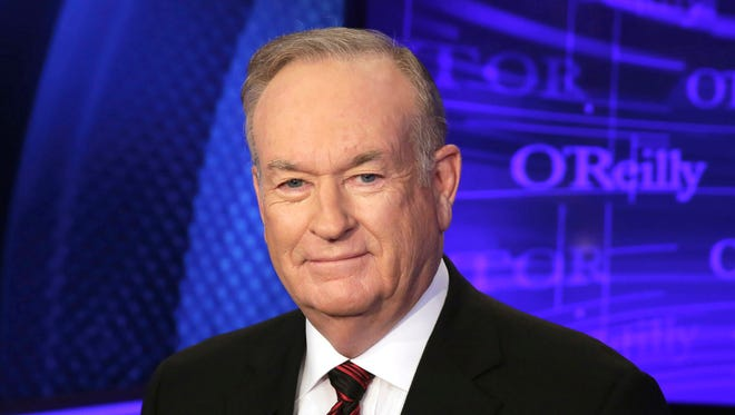 Bill O'Reilly is shown in this Oct. 1, 2015, file photo on the set of his Fox Network News show 'The O'Reilly Factor.'