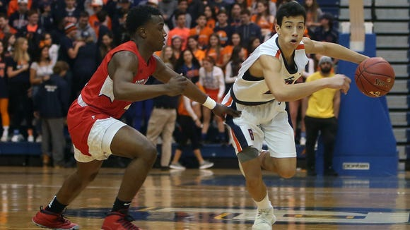 Briarcliff defeated Center Moriches 62-49 in the boys basketball Class B regional championship game at Pace University in Pleasantville March 10, 2018.