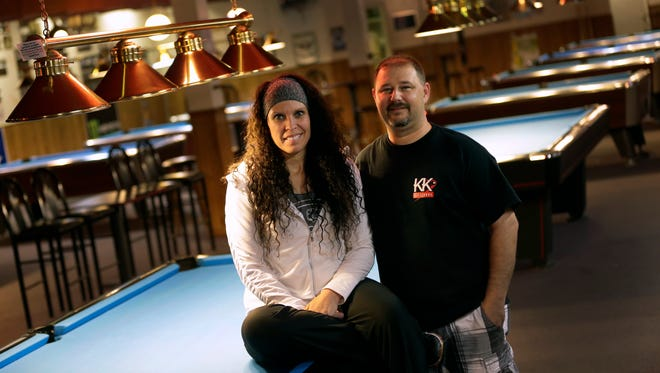 Penny and Chris Knutson are the owners of the new KK Billiards located at the old Shark's Club.