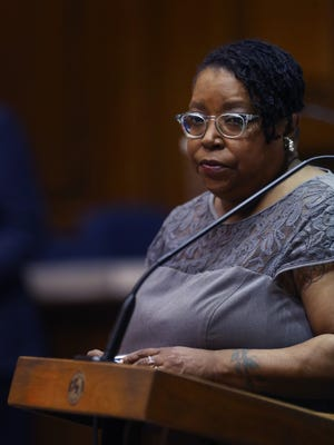 """In an exchange on the Indiana House floor on Monday, March 23, 2015,  Rep. Vanessa Summers, D-Indianapolis, said of Brookville Republican Rep. Jud McMillin's 18-month-old son, """"He's scared of me because of my color."""""""