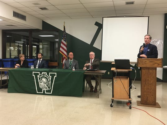 S.O.S. Wauwatosa holds a forum for parents at Wauwatosa West H.S. Oct. 3. 2016