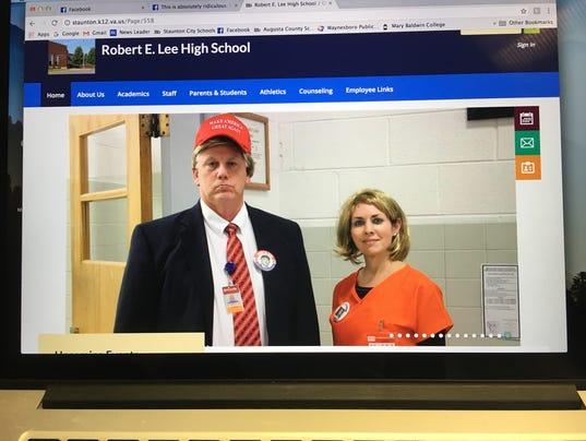 Trump and Clinton costumes