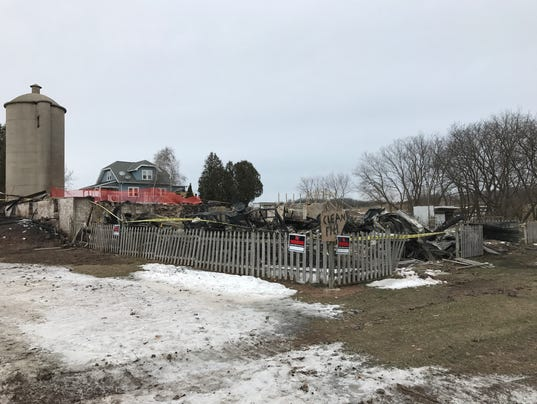 Barn fire on Northwoods Road