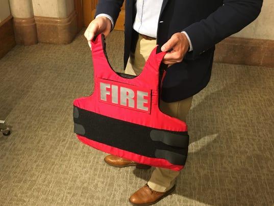 Fire Department bullet-proof vests