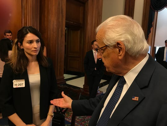 Pascrell meets Kurdish protester beaten by Turkish security