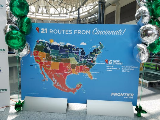 CVG New Routes Map