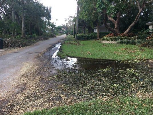 Hurricane Irma - raw sewage