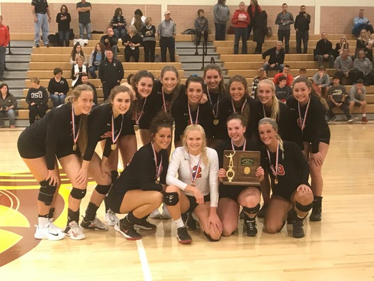 Pleasant district volleyball champions 2017