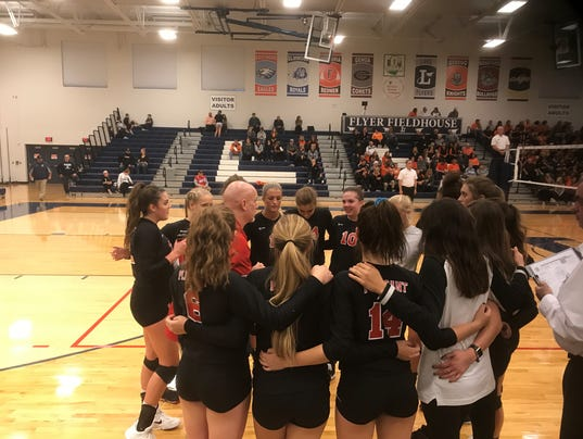 Pleasant volleyball 2017 timeout