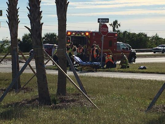 Crash on U.S. 1 in Palm Shores