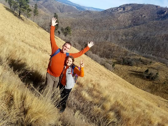 Happy Hiker: Camp and Allyson