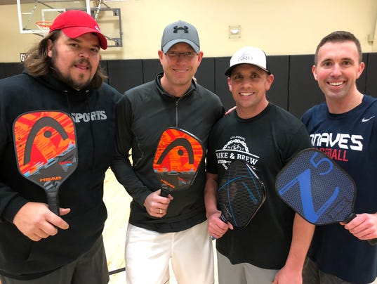 Tauscher's pickleball friends