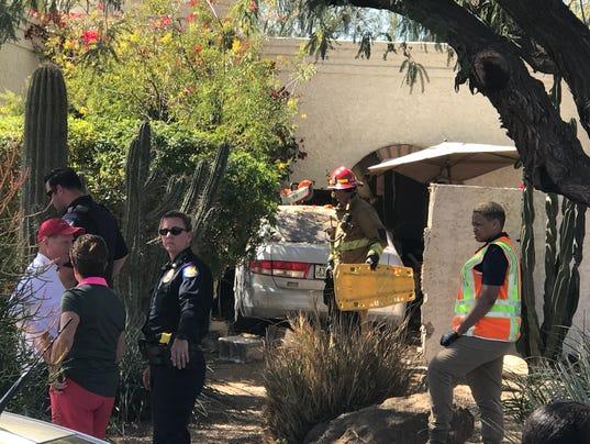Couple crashes into Phoenix home