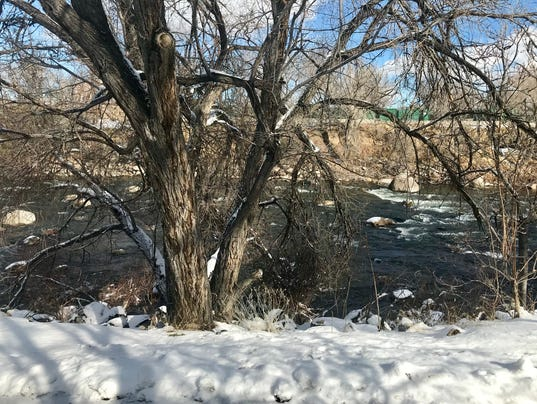 The Truckee River in Reno on March 4, 2018.