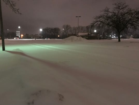 A snowy commute