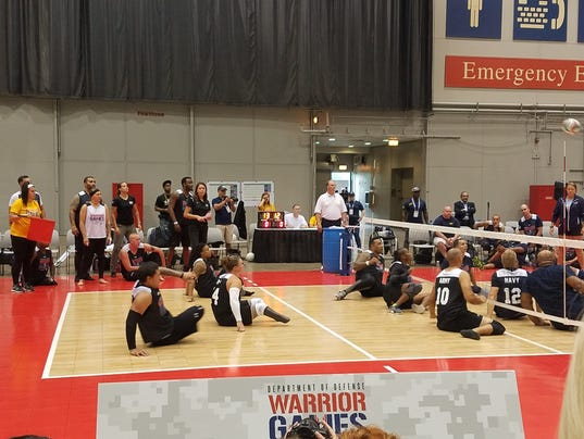 Army sitting volleyball team