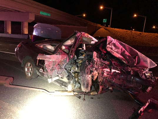 Photo of vehicle after collision