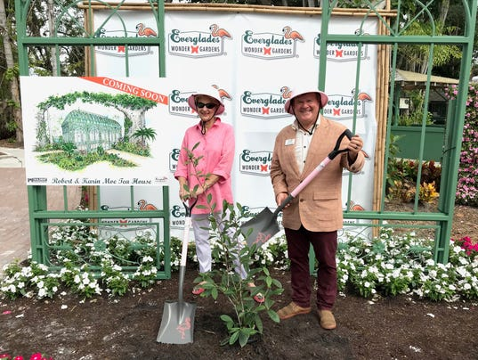 Bonita Springs Everglades Wonder Gardens tea house groundbreaking