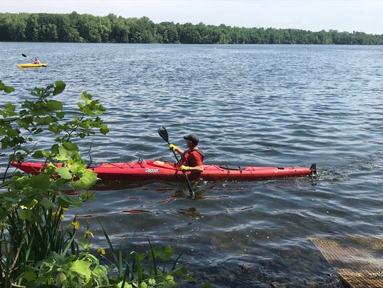 Oradell Reservoir kayak